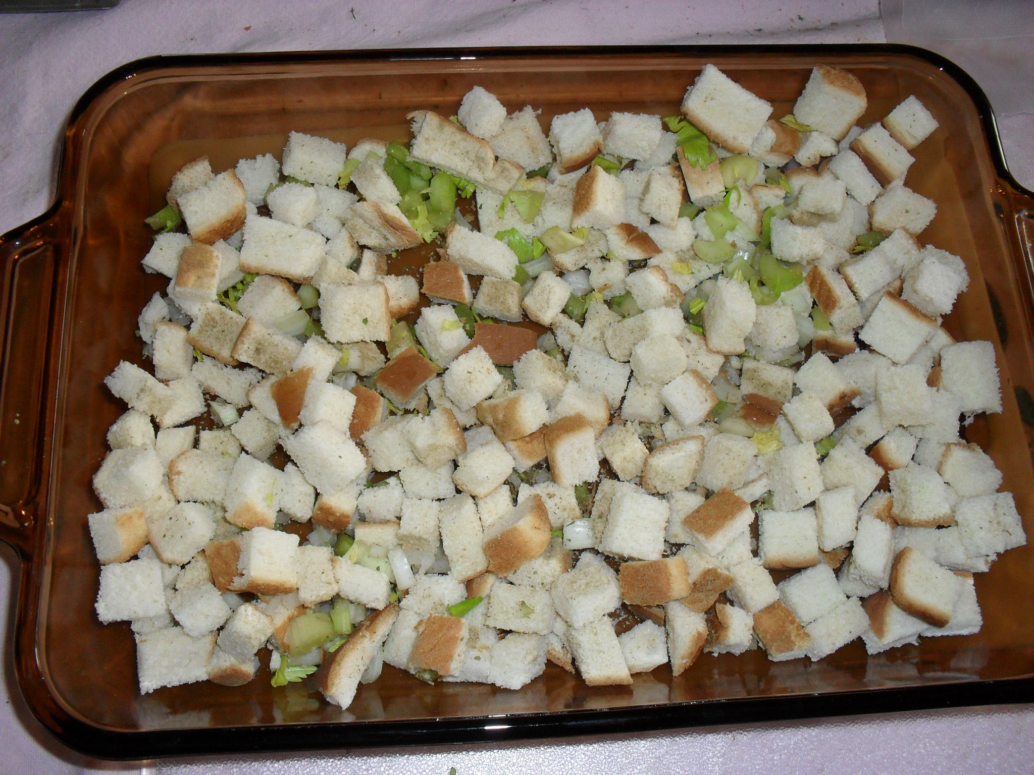 Bread Cubes, Celery, Onion, Seasonings
