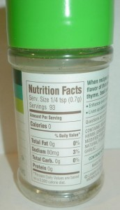 Pinch Of Herbs Nutritional Value